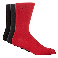 Calvin Klein - Pack of three dark socks