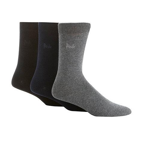 Pringle - Pack of three black, navy and grey socks