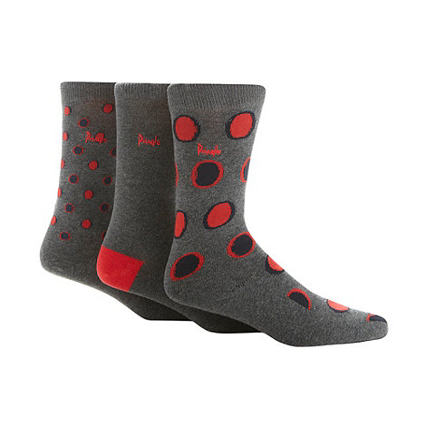Pringle - Pack of three red spotted socks