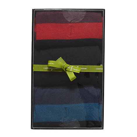 J by Jasper Conran - Designer pack of three black socks gift box