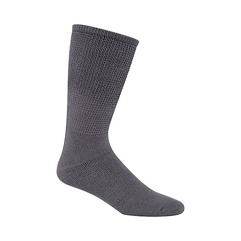 H.J.Hall - Grey +Comfort Fit Diabetic+ socks