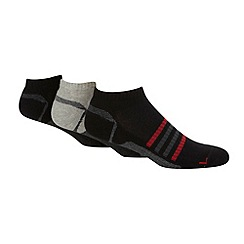 Debenhams Basics - Pack of three black technical trainer socks