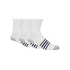 Debenhams Basics - Pack of three white technical sports socks