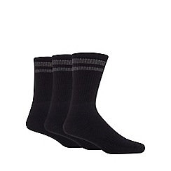 Debenhams Basics - Pack of three black sports socks