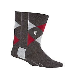 Pringle - Pack of three argyle bamboo socks
