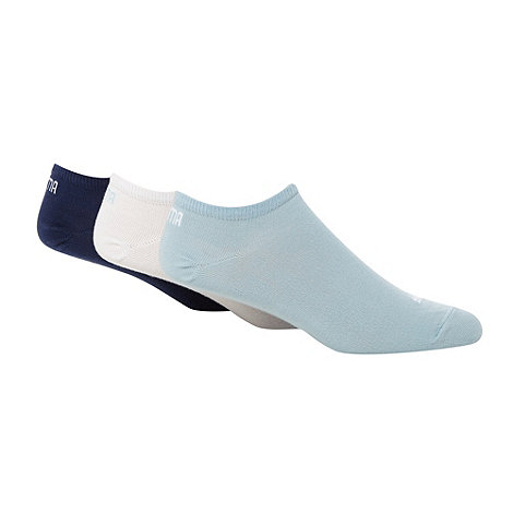 Puma - Pack of three blue trainer socks