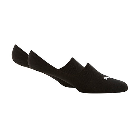Puma - Pack of two black invisible socks