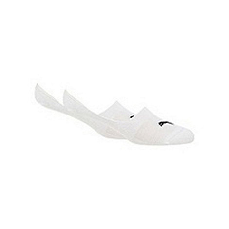 Puma - Pack of two white 'footie' socks