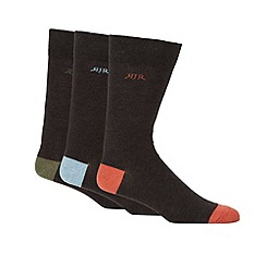RJR.John Rocha - Pack of three designer dark grey marled socks