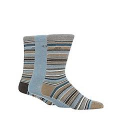RJR.John Rocha - Designer pack of three grey striped socks
