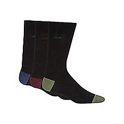 RJR.John Rocha - Pack of three designer black coloured heel and toe socks
