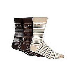 RJR.John Rocha - Designer pack of three black striped socks