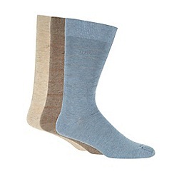 RJR.John Rocha - Designer pack of three blue marl socks