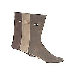 RJR.John Rocha - Pack of three designer natural tonal ribbed socks