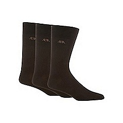 RJR.John Rocha - Designer pack of three chocolate plain socks
