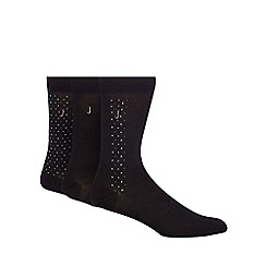 J by Jasper Conran - Designer pack of three black dotted socks