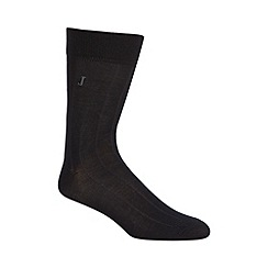 J by Jasper Conran - Pack of three designer black ribbed socks