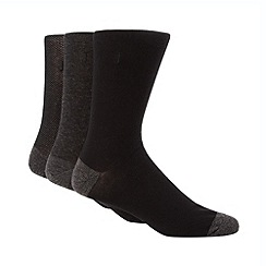 J by Jasper Conran - Designer pack of three black pindot socks