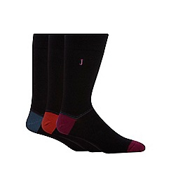 J by Jasper Conran - Designer black heel block ankle socks