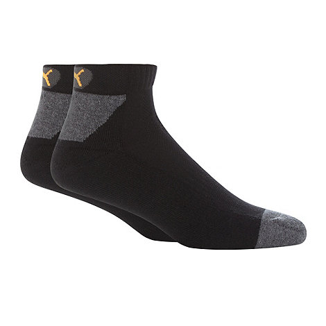 Puma - Pack of two black performance socks