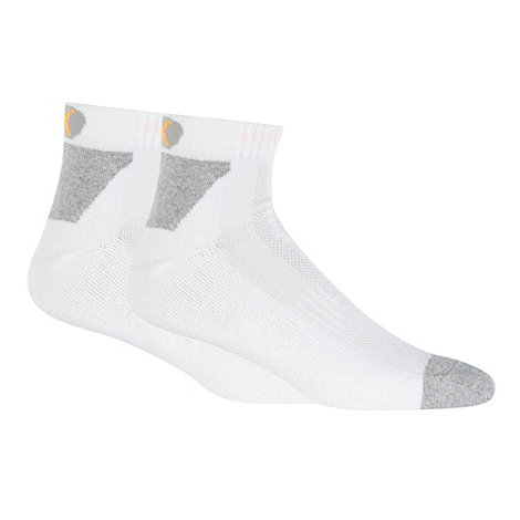 Puma - Pack of two white performance socks
