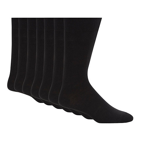 Thomas Nash - Pack of seven black socks