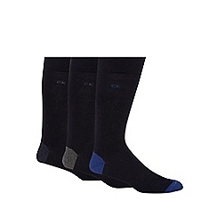 Calvin Klein - Pack of three navy heel and toe socks