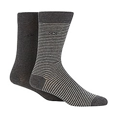 Calvin Klein - Pack of two grey fine striped socks