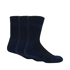 Jeep - Pack of three navy boot socks