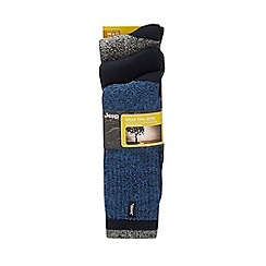 Jeep - Pack of three blue cushioned socks