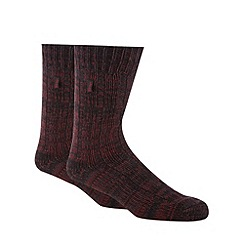 Jeep - Pack of two wine flecked cotton long socks