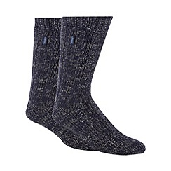 Jeep - Pack of two navy chunky socks
