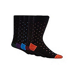 Freshen Up Your Feet - Pack of five black triangle printed socks