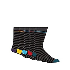 Freshen Up Your Feet - Pack of five grey striped socks