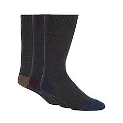 RJR.John Rocha - Designer pack of three grey socks