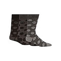 RJR.John Rocha - Pack of three designer grey spotted socks