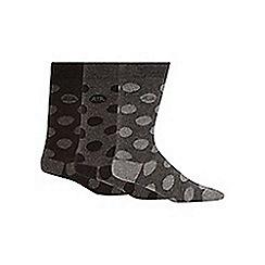 RJR.John Rocha - Pack of three designer grey spotted socks
