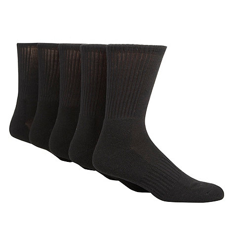 Thomas Nash - Pack of five black crew sports socks