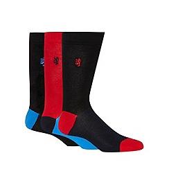 Pringle - Pack of three red block socks