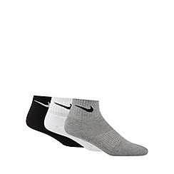Nike - Pack of three grey cotton socks