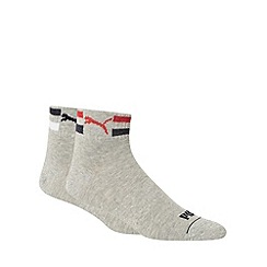 Puma - Pack of two grey sports socks