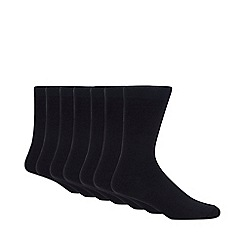 Debenhams Basics - Pack of seven navy socks