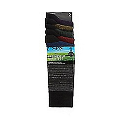 Freshen Up Your Feet - Pack of five black striped hairline socks