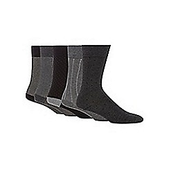 Freshen Up Your Feet - Pack of five grey socks