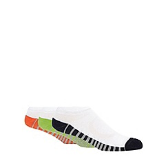 Debenhams Basics - Pack of three white striped sole performance trainer socks
