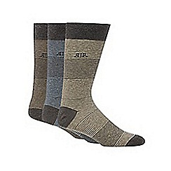 RJR.John Rocha - Designer pack of three grey hairline striped socks