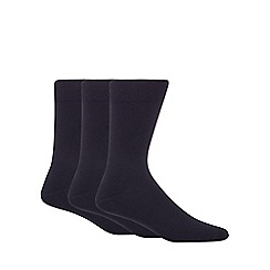 Debenhams - Pack of three navy plain socks