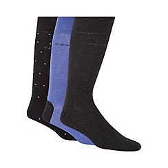 Calvin Klein - Pack of three blue, grey and navy spotted socks