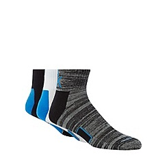 Calvin Klein - Pack of three black, white and grey athletic ankle socks