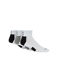 Calvin Klein - Pack of three white athletic ankle socks